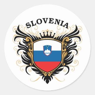 Slovenia Round Sticker