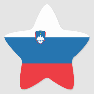 Slovenia/Slovene/Slovenian Flag Star Sticker