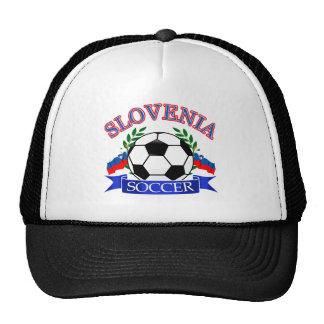 Slovenia soccer ball designs trucker hats