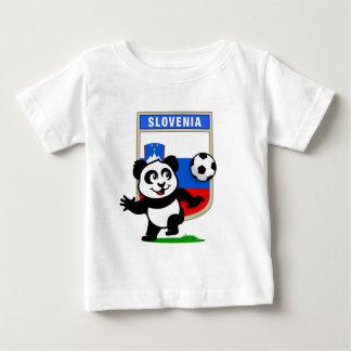 Slovenia Soccer Panda Baby T-Shirt