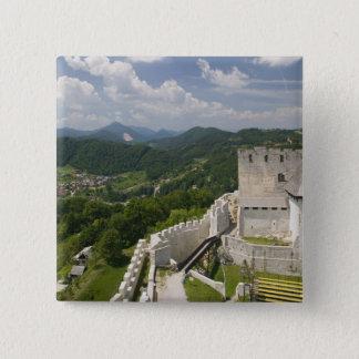 SLOVENIA, STAJERSKA Styria), Celje: Town View 15 Cm Square Badge
