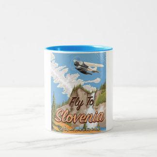 Slovenia Vintage style travel poster Two-Tone Coffee Mug