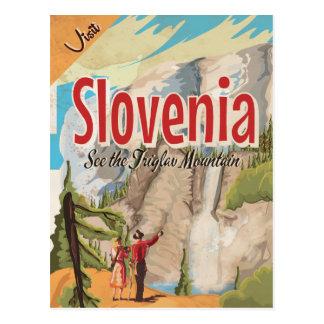 Slovenia Vintage Travel Poster Postcard