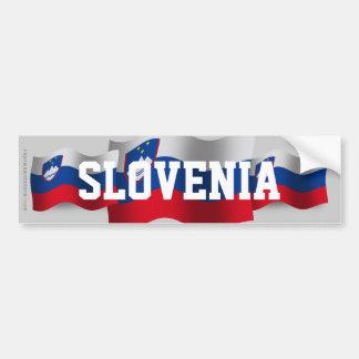 Slovenia Waving Flag Bumper Sticker