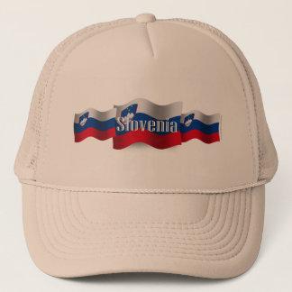 Slovenia Waving Flag Trucker Hat