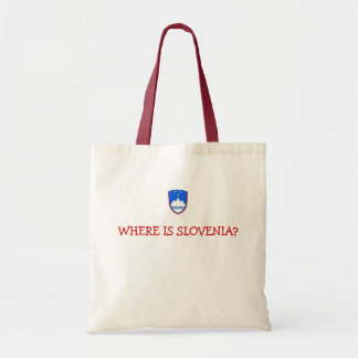 slovenia, WHERE IS SLOVENIA? Budget Tote Bag