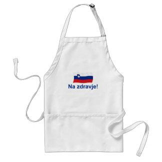 Slovenian Na zdravje! (To your health!) Standard Apron
