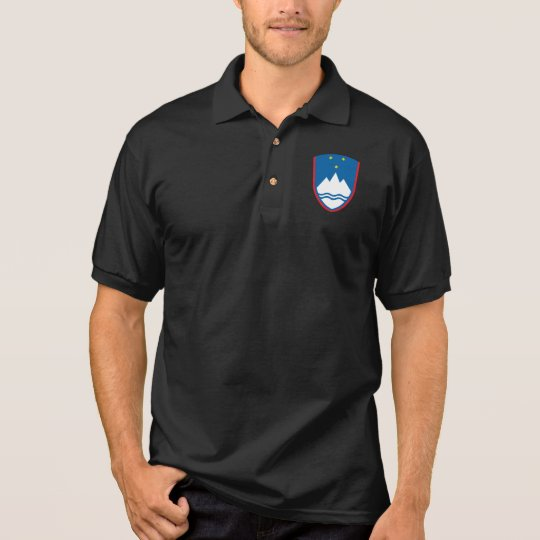 Slovenian National Shield Men's Jersey Polo Shirt
