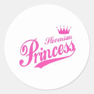 Slovenian Princess Classic Round Sticker