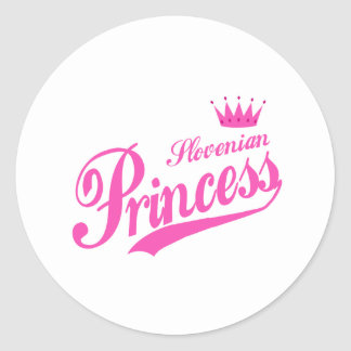 Slovenian Princess Round Sticker