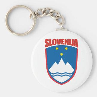 Slovenija (Slovenia) Basic Round Button Key Ring