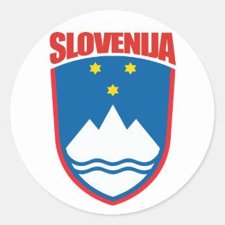 Slovenija (Slovenia) Round Sticker