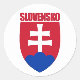 Slovensko/Slovakia COA Classic Round Sticker