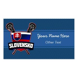 Slovensko Slovakia Lacrosse Custom Business Cards