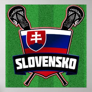 Slovensko Slovakia Lacrosse Poster
