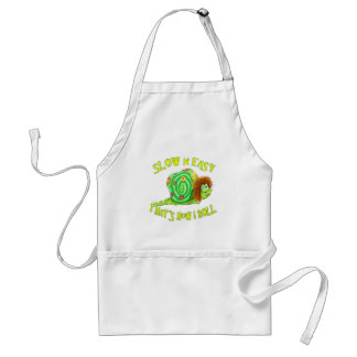 Slow and easy thats how I Roll Standard Apron