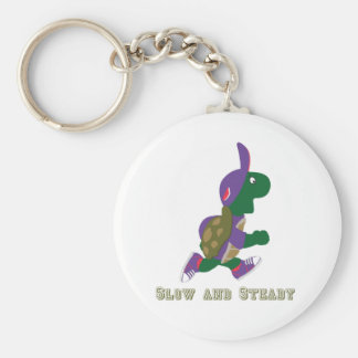 Slow and Steady Turtle Basic Round Button Key Ring