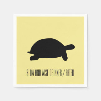 Slow and Wise Drinker Eater Tortoise Paper Napkin