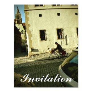 Slow bike riding with your dog 11 cm x 14 cm invitation card