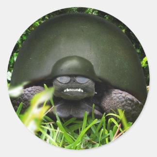 Slow Commando Round Sticker