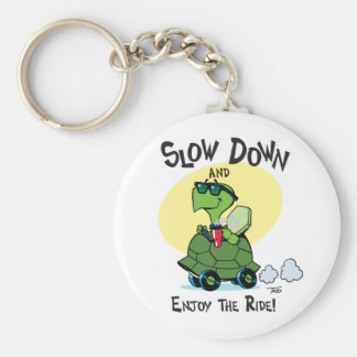 Slow Down and Enjoy the Ride Novelty Key Chain