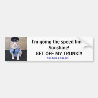 Slow Down! Bumper Sticker