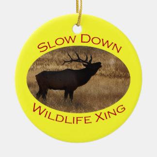 Slow Down Wildlife Crossing Christmas Ornament