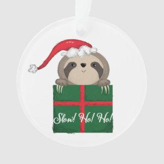 Slow! Ho! Ho! Sloth Ornament