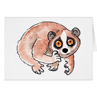 Slow Loris Greeting Card
