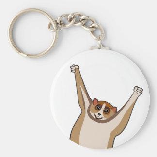 Slow Loris Tickle 1 Basic Round Button Key Ring