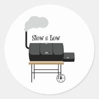 Slow & Low Round Sticker