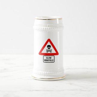 Slow Minefield (2), Traffic Sign, UK Beer Steins
