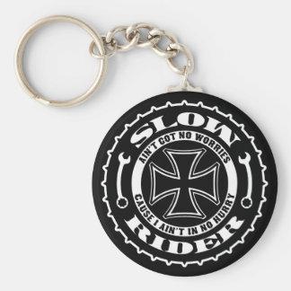 Slow Rider Basic Round Button Key Ring