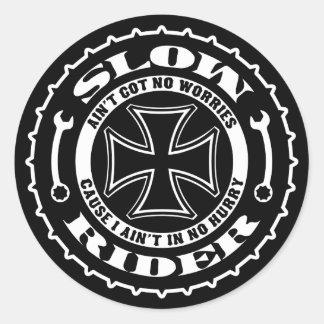 Slow Rider Round Sticker