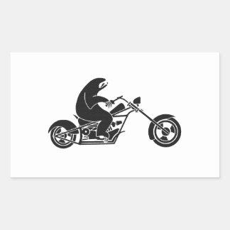 Slow Sloth On A Fast Bike Rectangular Sticker