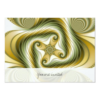 Slow Spin - Fractal Art 5x7 Paper Invitation Card