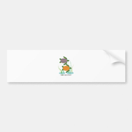 Slow & Steady Bumper Stickers