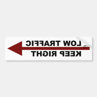 Slow Traffic Keep Right Bumper Sticker