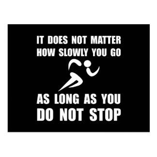 Slowly Go Runner Postcard