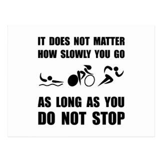 Slowly Go Triathlon Postcard