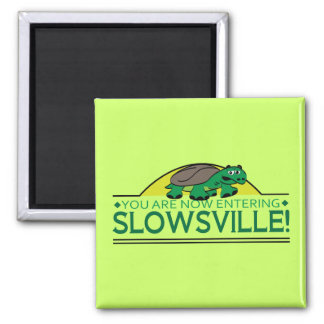 Slowsville Tortoise Square Magnet