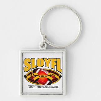 SLOYFL Silver-Colored SQUARE KEY RING