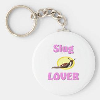 Slug Lover Basic Round Button Key Ring
