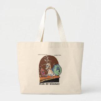 Slug Of Whiskey Funny Snail Gifts & Tees Jumbo Tote Bag