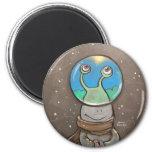 sluggo's anti-snow globe 6 cm round magnet