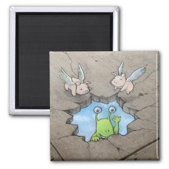 sluggo's skyhole (with pigs) magnet
