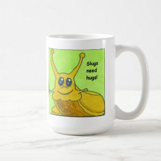 Slugs need hugs! basic white mug