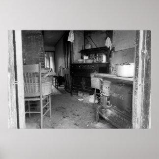 Slum Kitchen: 1935 Poster