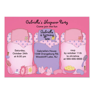 Slumber Birthday Party 13 Cm X 18 Cm Invitation Card