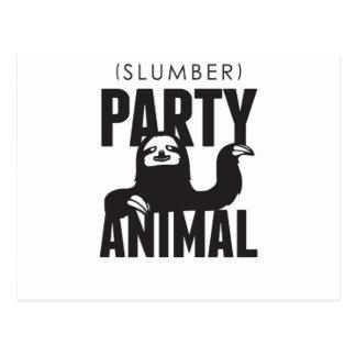 Slumber Party Animal Postcard